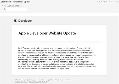Apple Website Hacked