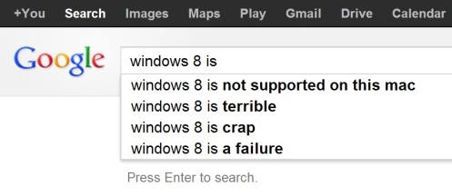 google.co.th windows 8 is ... search