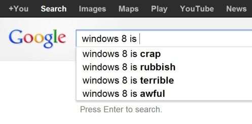 google.co.uk windows 8 is ... search