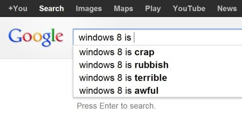 google.co.uk windows 8 is ... search