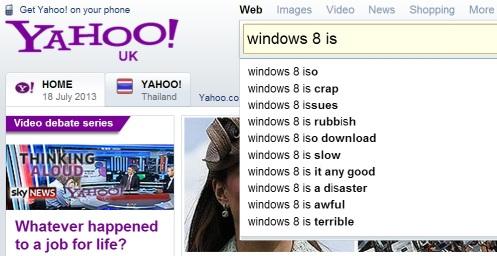yahoo windows 8 is ... search