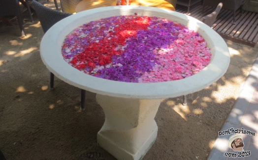 DonCharisma.com Bowl of flowers Sanur Beach Oct 2012 Thx Chris Herron