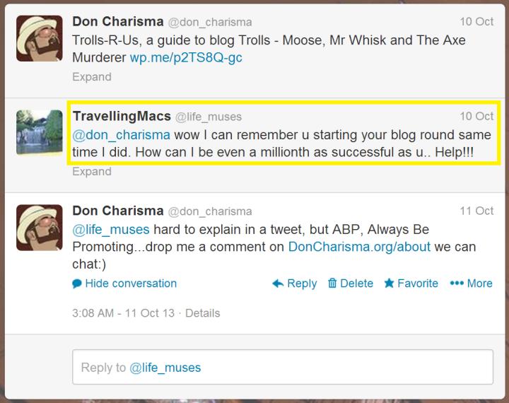 DonCharisma.com, Don Charisma, Tweet TravellingMacs