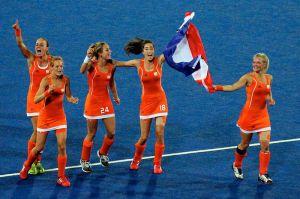Netherlands womens hockey celebrate - 2012 Olympics