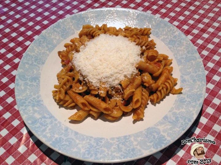 DonCharisma.com, Don Charisma, Tomato Pasta BEFORE