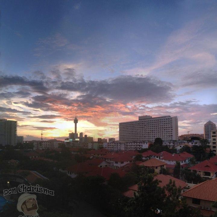 DonCharisma.org Big Sky Sunset Balcony Panorama