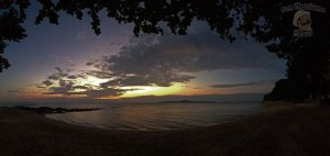 DonCharisma.org Beach Panorama Sunset Double iPhone PS