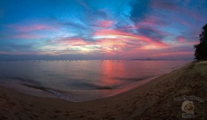 DonCharisma.org Beach Sunset Panorama Experimental iPhone Double Pano Photoshop