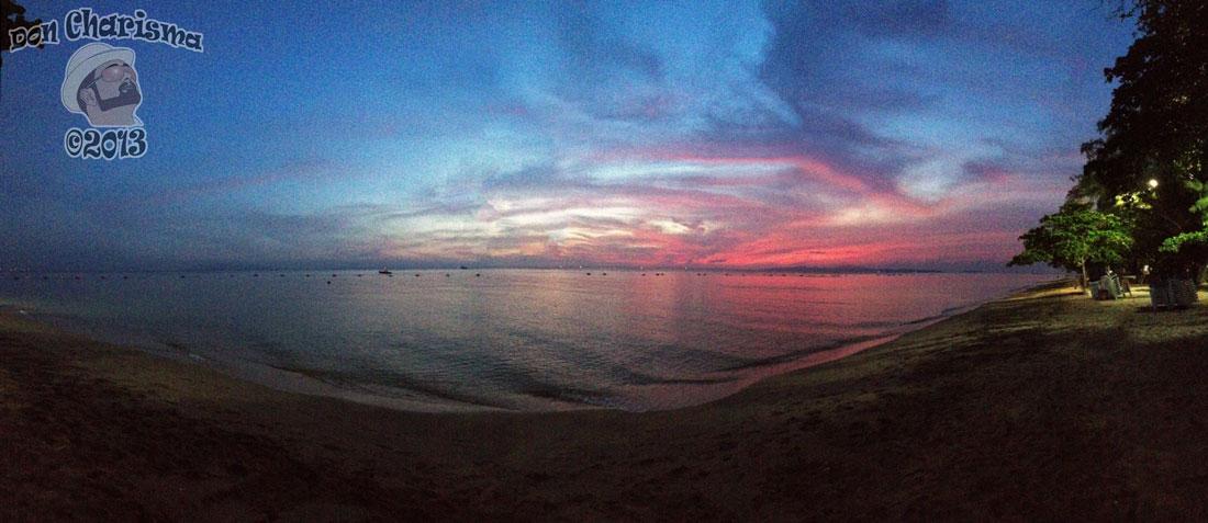DonCharisma.org Beach Sunset Panorama Experimental iPhone Double Pano PTGUI