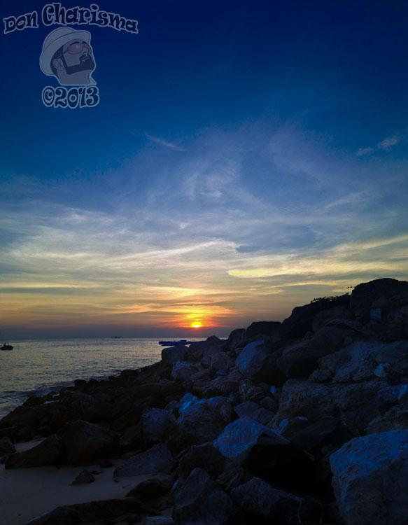 DonCharisma.org Ocean Sunset Rocks Towerama MS-ICE-1w-x-3h-L