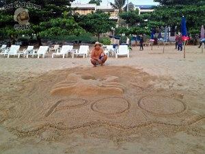 DonCharisma.org Poo Sand Sculpture Crab