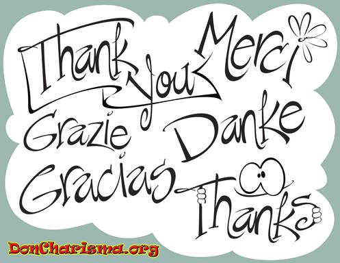 DonCharisma.org Say Thanks
