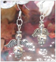 IreneDesign2011 Beautiful Silver Hook Angel Earrings
