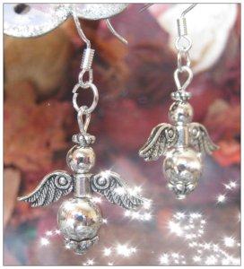 IreneDesign2011 Beautiful Silver Hook Angel Earrings