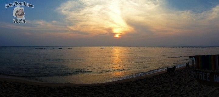 DonCharisma.org Beach Sunset Panrama iPhone