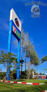 DonCharisma.org Filling Station Sign And Trees PTGui-1w-x-4h-L