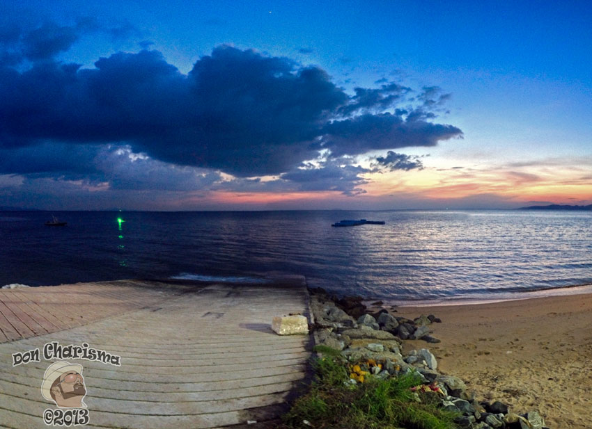 DonCharisma.org Slipway Sunset Panorama PS-5w-x-2h-P