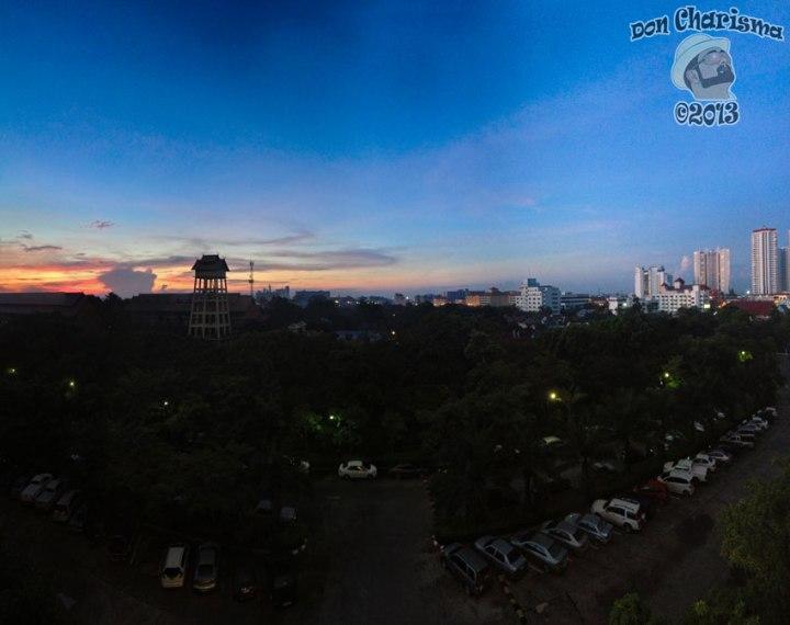 DonCharisma.org Top Floor Sunrise Panorama (Full) PTGui-8w-x-2h-P