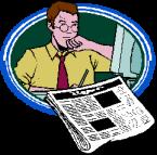 idiotwriter - Man Newspaper