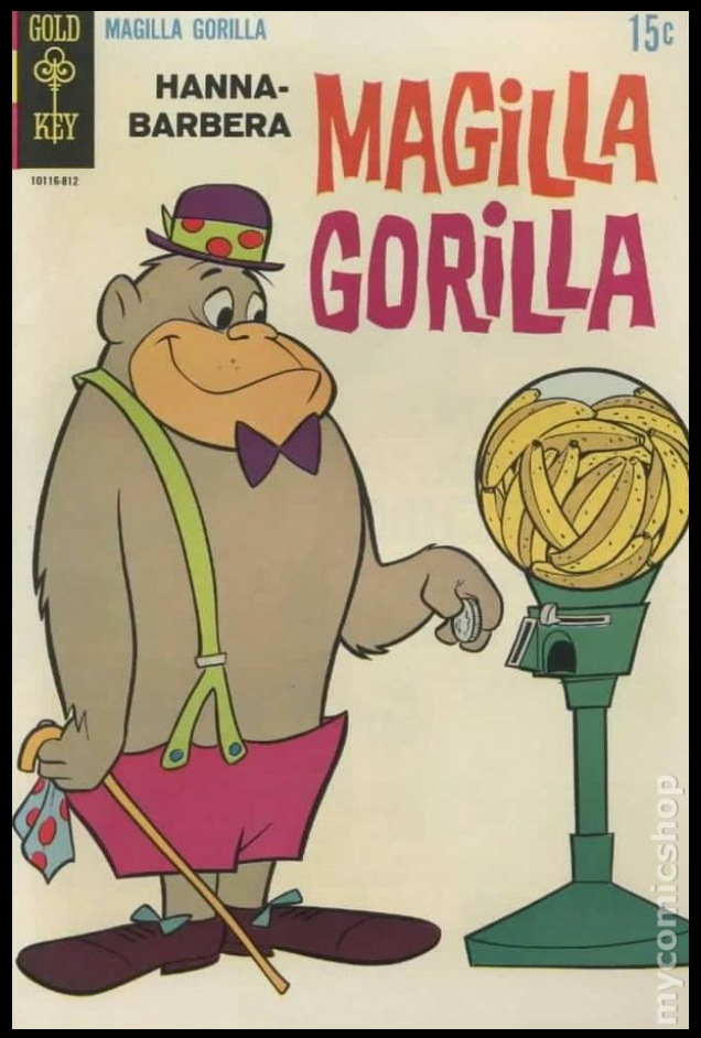 This gorilla by the name of Magilla befriended American youth in comic book and cartoon form, thanks to Hanna-Barbera
