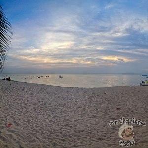 DonCharisma.org Beach Sunset Panorama Big Sand Sky PTGui-5w-x-2h-P