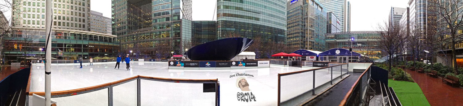 DonCharisma.org Ice Rink Canada Square - Canary Wharf iPhone