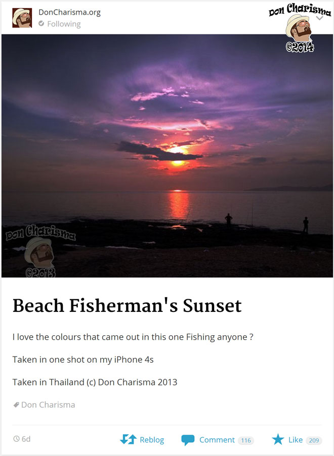 DonCharisma.org-Beach-Fisherman's-Sunset-In-The-Reader
