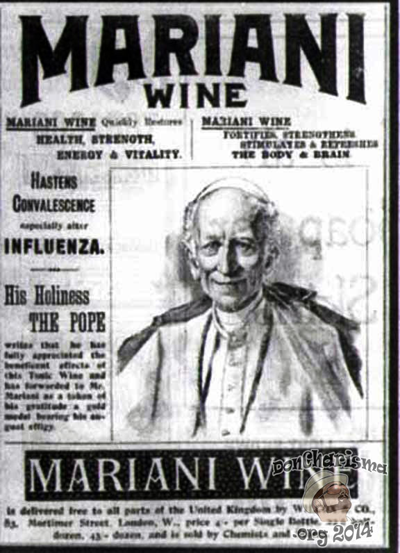 The Pope - Endorsing Mariani Coca Wine
