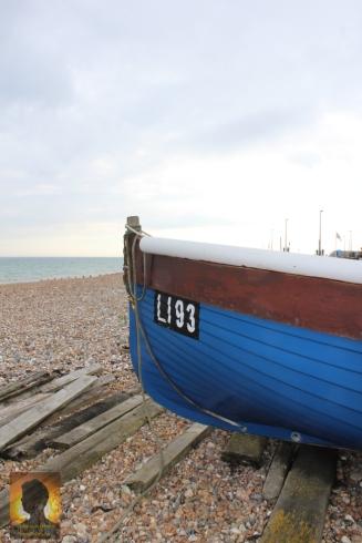 Boat on an empty beach