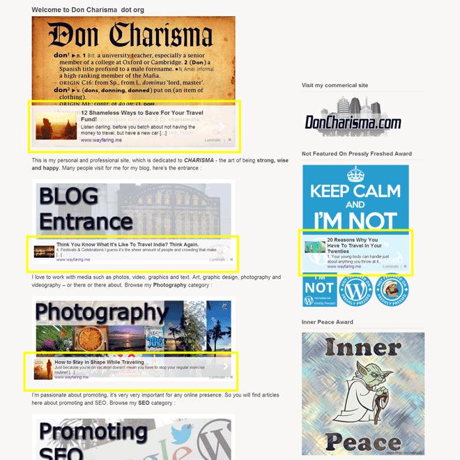 DonCharisma.org-Luminate-Ads