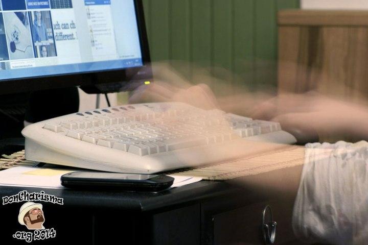 DonCharisma.org-Manic-Typing