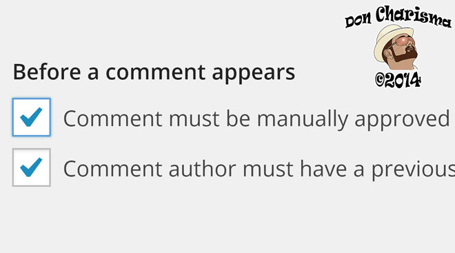 DonCharisma.org-Manually-Approved-Comments
