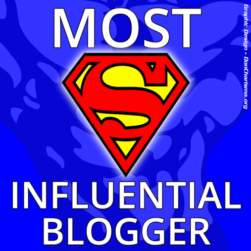 Most Influential Blogger badge DC
