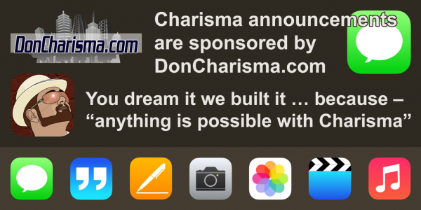 announcement, DON CHARISMA