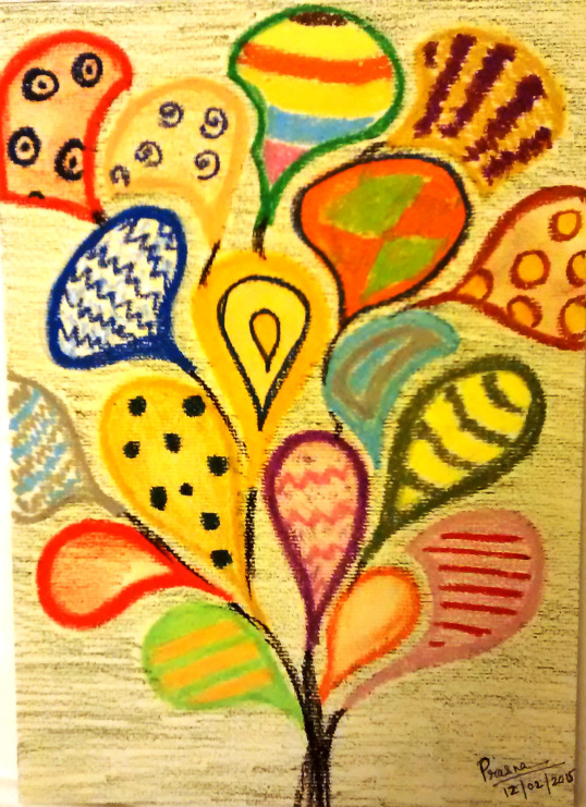 Oil Pastels A4 sheet