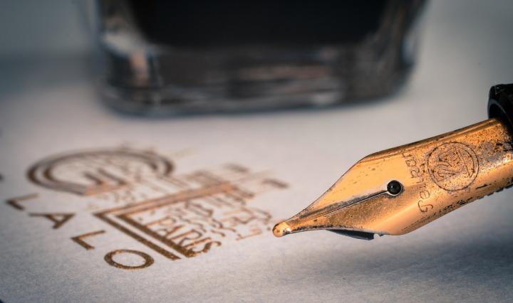 fountain pen paper write writing