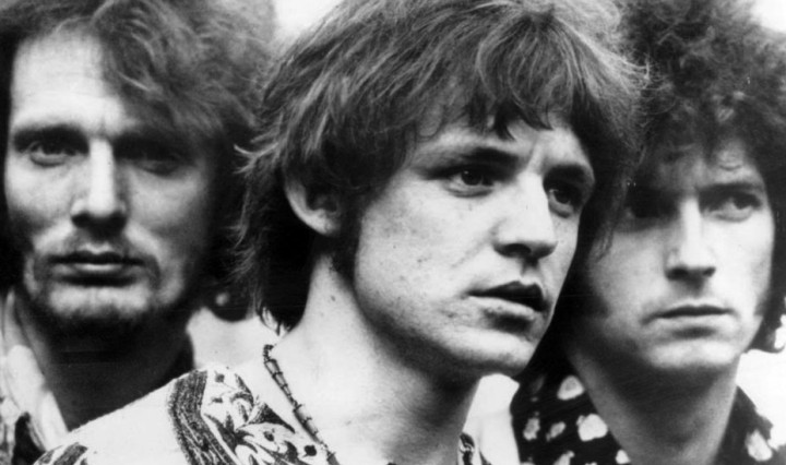 Photo of Cream. From left: Ginger Baker, Jack Bruce, Eric Clapton, DON CHARISMA