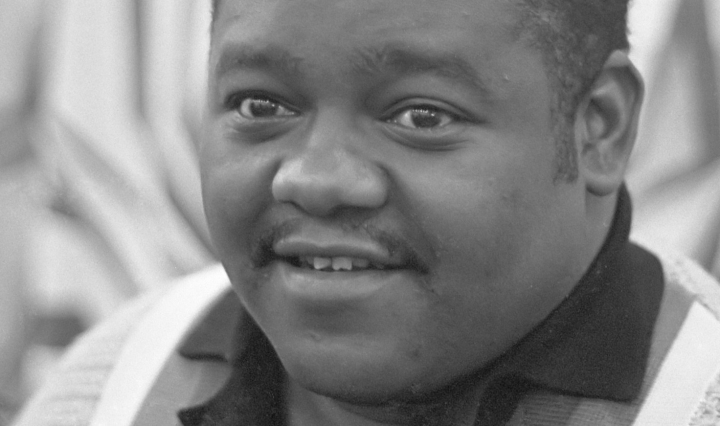 "DON CHARISMA, Fats Domino in Amsterdam, Fats during his performance in the Concertgebouw * November 3, 1962, Fats Domino, Antoine ""Fats"" Domino Jr., Rock and roll, boogie-woogie, New Orleans, rhythm and blues, Blueberry Hill, Im Walkin', Aint That a Shame, The Fat Man, Blue Monday, Walking to New Orleans, I Hear You Knockin, My Blue Heaven, Im in Love Again"