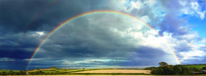 rainbow,beautiful,devon,nature,sun,sunset,sky,rain,clouds, doncharisma