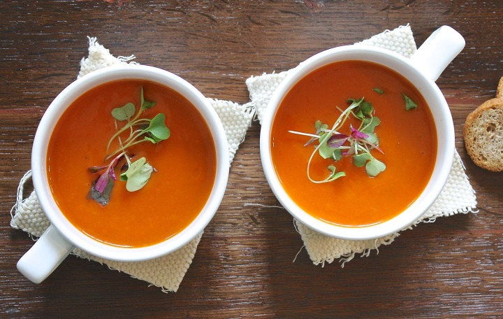 soup,tomato,healthy,homemade,vegetarian,lunch,fresh,appetizer,dish,plate,herb,delicious,micro greens,garnish,gourmet,cuisine,tasty,dinner,food,meal,pepper,dining,restaurant,organic,cooking,vegetable,diet,green,cup,bowl, DON CHARISMA