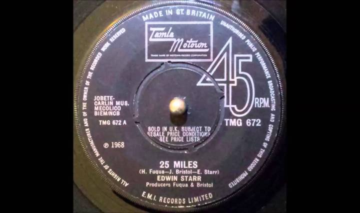 Twenty Five Miles - Edwin Starr, YouTube Thumbnail