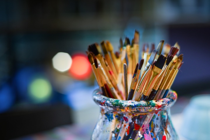 brushes,painter,work shop,bowl,lights,work,creative,creativity,painting,artist,paintbrush,studio,art,brush,drawing,artistic,hobby,color,tool,paint,palette, DON CHARISMA