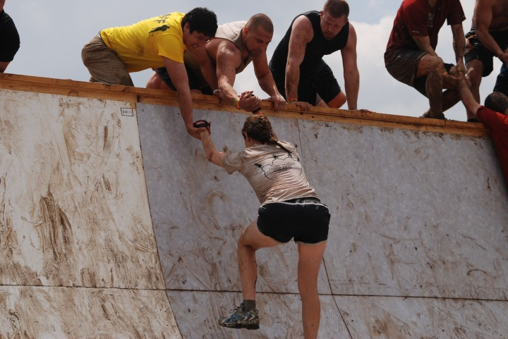 Positive, Positivity, Motivate, Motivation,girl,mud,run,slope,help,challenge,woman,tough,mudder,DON CHARISMA