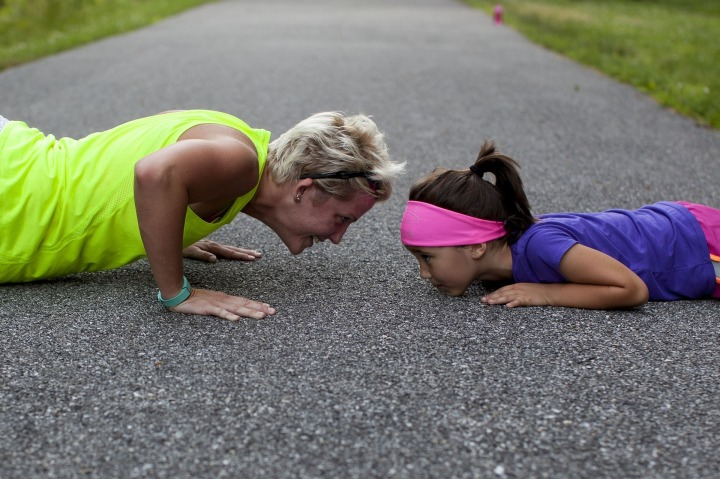 Positive, Positivity, Motivate, Motivation,push ups,exercise,fitness,workout,people,sport,woman,girl,mother,daughter,strength,athletic,healthy,fit,young,pushup,strong,outdoors,muscles,fun,challenge,DON CHARISMA