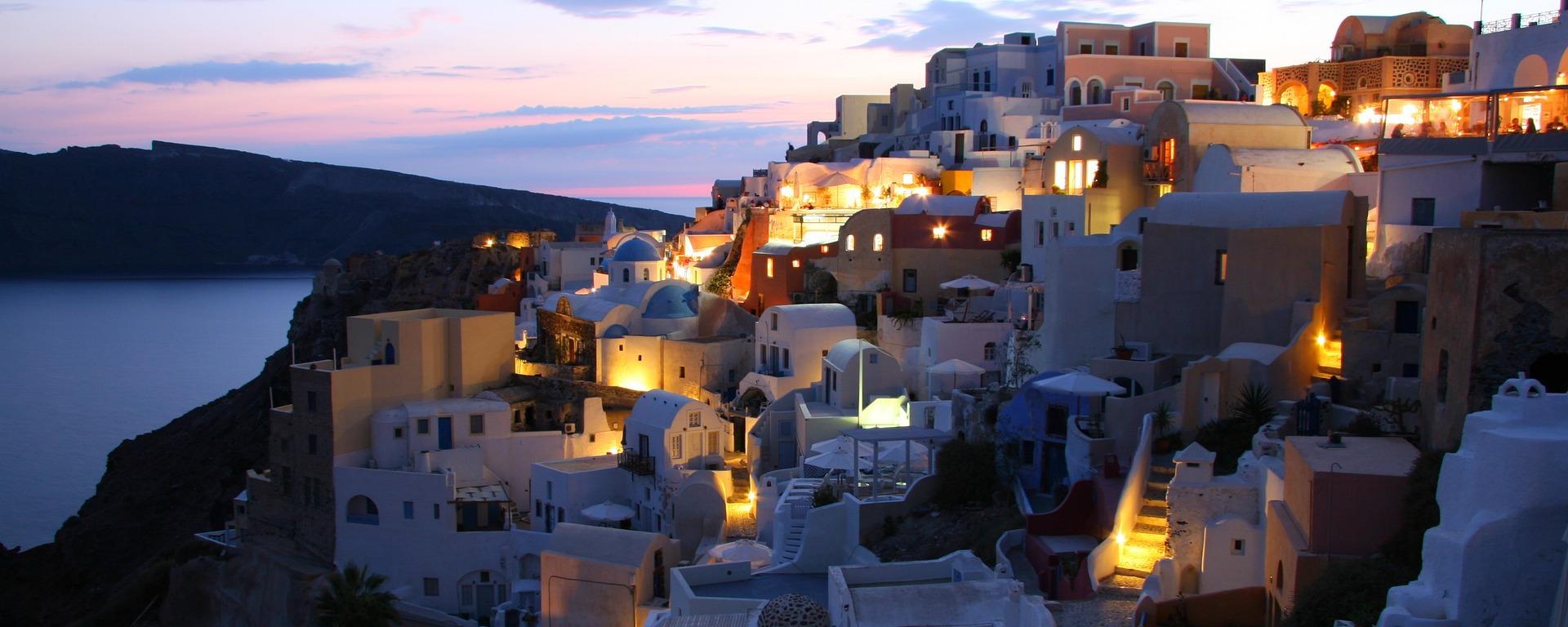 santorini,island,greece,cyclades,greek island,white houses,caldera,vacations,tourism,blue,abendstimmung, Ithaka, DON CHARISMA