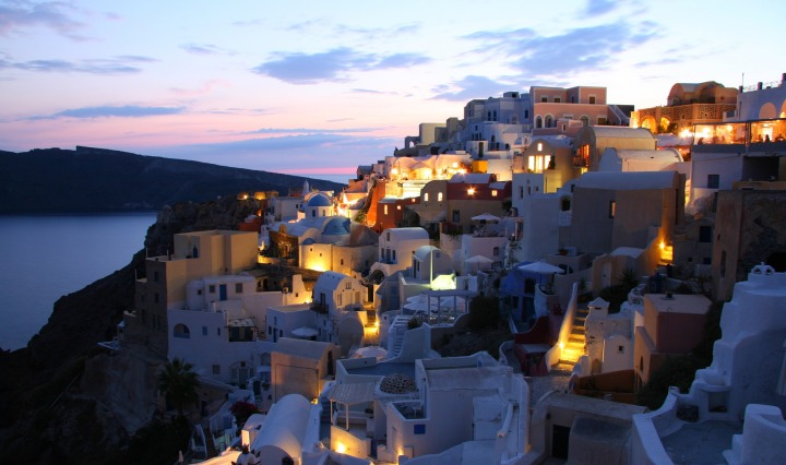 santorini,island,greece,cyclades,greek island,white houses,caldera,vacations,tourism,blue,abendstimmung, Ithaka, DON CHARISMA
