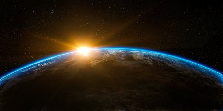Positive, Positivity, Motivate, Motivation,sunrise,space,outer space,globe,world,earth,flare,sunshine,beam,horizon,planet,creation,beginning,above,stratosphere,atmosphere,up,cool wallpaper,space wallpaper,space background,zoom background,DON CHARISMA