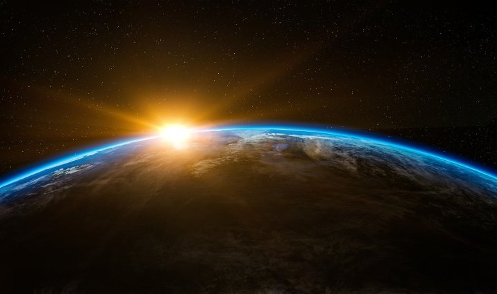 sunrise,space,outer space,globe,world,earth,flare,sunshine,beam,horizon,planet,creation,beginning,above,stratosphere,atmosphere,up,cool wallpaper,space wallpaper,space background,zoom background, DON CHARISMA
