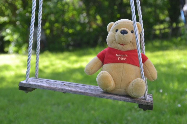 swing,kids rocking,rock,garden,teddy bear,bears,plush,winnie the pooh,furry teddy bear,purry,cute,bear, DON CHARISMA