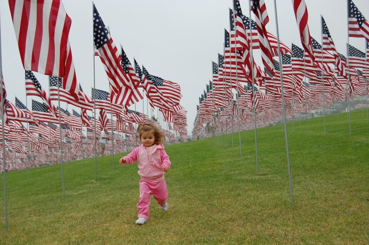 Positive, Positivity, Motivate, Motivation,toddler,patriot,patriotic,girl,running,flags,usa,america,stars and stripes,lawn,grass,freedom,young,child,kid,happy,cute,childhood,outdoor,green,park,memorial day,veterans day,july 4th,princess,pink,DON CHARISMA